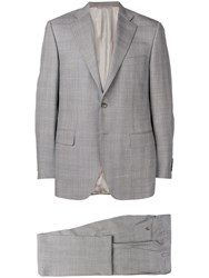 Canali Two Piece Formal Suit Grey