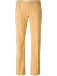 Romeo Gigli Vintage Striped Trousers Yellow And Orange