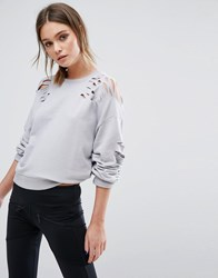 New Look Nibble Sweat Jumper Light Grey