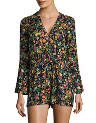 Jessica Simpson Floral Romper French Clusters