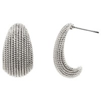 Monet Textured Drop Earrings Silver