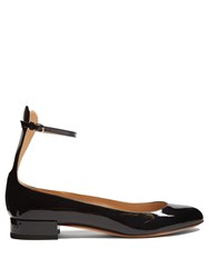 Francesco Russo Patent Leather Ballet Flats Black