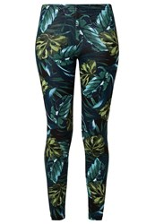 American Apparel Leggings Jungle Leaves Green