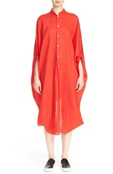 Women's Junya Watanabe Drape Sleeve Linen Shirtdress