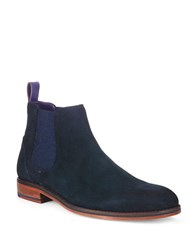 Ted Baker Camroon 4 Suede Chelsea Boots Blue