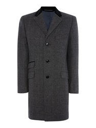 New And Lingwood Thornton Wool Coat Grey