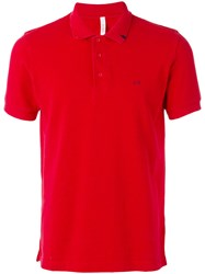 Sun 68 Contrast Logo Polo Shirt Men Cotton Xxl Red