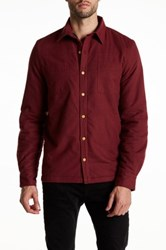 Threads For Thought Fleece Work Shirt Red