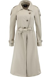 Mcq By Alexander Mcqueen Cotton Blend Trench Coat Nude