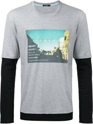 Guild Prime Photographic Layered T Shirt Grey