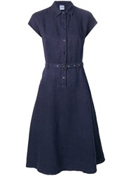 Aspesi Belted Shirt Dress Blue