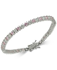 Giani Bernini Cubic Zirconia Tennis Bracelet In Sterling Silver Created For Macy's Pink
