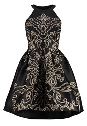 Chi Chi London Christina Cocktail Dress Party Dress Black Gold