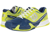 Wilson Rush Pro 2.0 Lime Teal White Men's Tennis Shoes Blue