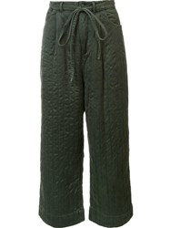 Craig Green Wide Legged Drawstring Trousers Green