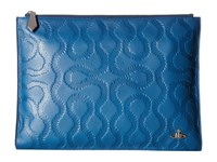 Vivienne Westwood Squiggle Zip Pouch Blue