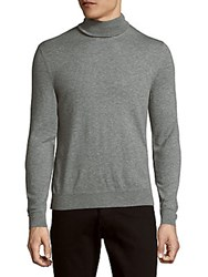Ralph Lauren Long Sleeve Heathered Cashmere Sweater Light Grey
