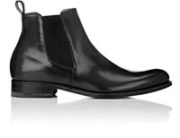 Bruno Famiglietti Men's Burnished Leather Chelsea Boots Dark Grey Grey Dark Grey Grey
