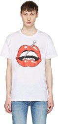 Herman White Lips T Shirt