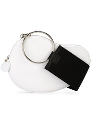 Jacquemus Curved Flat Crossbody Bag White