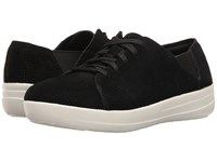 Fitflop F Sporty Lace Up Sneaker Perf Black Women's Shoes