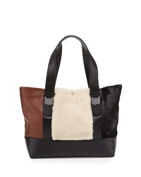Millie Colorblock Small Tote Bag Natural Multi Natural Multi Opening Ceremony