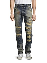 Prps Gee Mid Rise Distressed Jeans Indigo