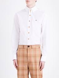 Vivienne Westwood Krall Classic Fit Stretch Cotton Shirt White