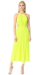 Jason Wu Lace Cocktail Dress Neon Yellow