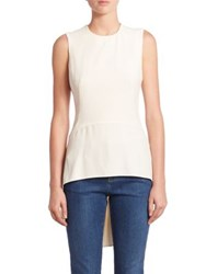 Alexander Mcqueen Sleeveless Hi Lo Top Soft White Black