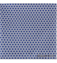Turnbull And Asser Circles Silk Pocket Square Navy Cream