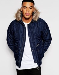 Ringspun Cropped Max Jacket With Hood Navy