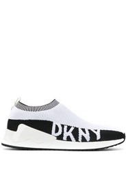 Dkny Knitted Slip On Sneakers White