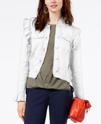 Inc International Concepts Ruffled Linen Jacket Created For Macy's White