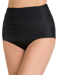 Miraclesuit Norma Jean Ruched High Waisted Bikini Bottom Black