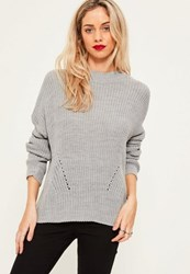 Missguided Grey Oversized Jumper