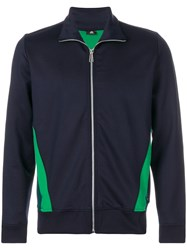 Paul Smith Ps By Zip Up Jacket Cotton Polyester Spandex Elastane S Blue