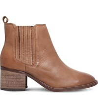 Miss Kg Samba Leather Ankle Boots Camel