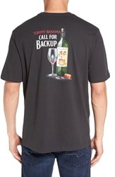 Tommy Bahama Men's Big And Tall 'Call For Backup' Graphic Crewneck T Shirt Coal
