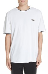 Ovadia And Sons Embroidered Leopard Pique T Shirt White