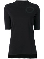 Y 3 Circle Detail T Shirt Women Cotton Spandex Elastane L Black
