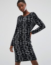B.Young Diamond Embellished Dress Black