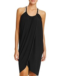 Magicsuit Draped Dress Swim Cover Up Black