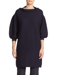 Piazza Sempione Full Sleeve Wool Knit Tunic Dark Blue