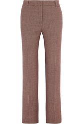Paul And Joe Houndstooth Tweed Slim Leg Pants Brown