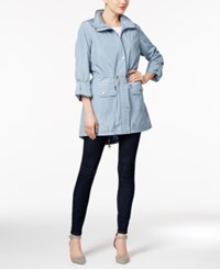 Styleandco. Style Co. Zip Front Utility Jacket Only At Macy's Light Chambray