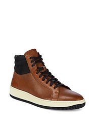 Frye Wythe Leather High Top Sneakers Off White
