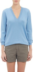 Tomas Maier V Neck Pullover Sweater Blue Size 6 Us