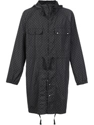 Engineered Garments Polka Dots Hooded Coat Black