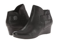 Rockport Total Motion 45Mm Wedge Stone Bootie Black Dist Goat Women's Boots